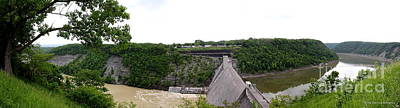 Photograph - Panorama Of Mount Morris Dam At Letchworth State Park  by Rose Santuci-Sofranko