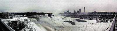 Photograph - Panorama Of Niagara Falls Partially Frozen Over by Rose Santuci-Sofranko