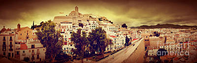 Photograph - Panorama Of Old City Of Ibiza Spain by Michal Bednarek