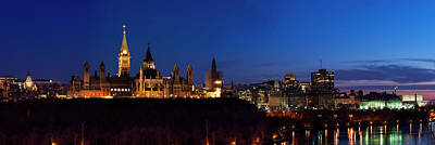 Panorama Of Parliament Hill, Ottawa Art Print