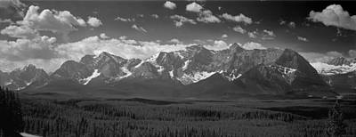 Photograph - 1m3175-panorama Of Peaks Above Kananaskis Valley by Ed  Cooper Photography