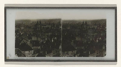 Czech Republic Drawing - Panorama Of Prague, May Possibly Ferrier Pere Et Fils by Artokoloro