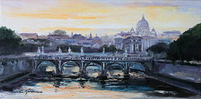 Painting - Panorama Of Rome by Luke Karcz