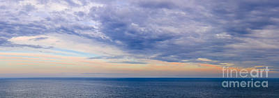 Ocean Sunset Photograph - Panorama Of Sky Over Water by Elena Elisseeva