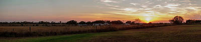 Prairie Landscape Wall Art - Photograph - Panorama Of Sunset On South Texas by Tier Images