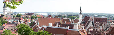 Mellow Yellow - Panorama of Tallin Rooftops by Thomas Marchessault
