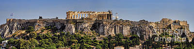 Greek Photograph - Panorama Of The Acropolis In Athens by David Smith
