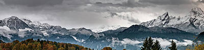 Autumn Photograph - Panorama Of The Berchtesgaden Alps by Delectus