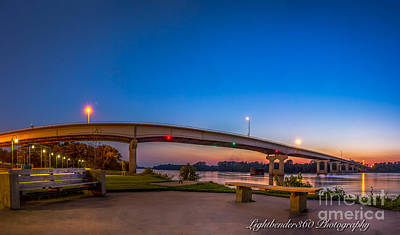 Photograph - Panorama Of The Garrison Ave. Bridge  by Larry McMahon