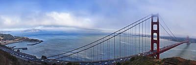Photograph - Panorama Of The Golden Gate Bridge by Abram House