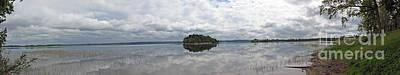 Photograph - Panorama Of The Lake Plateliai. Lithuania. by Ausra Huntington nee Paulauskaite
