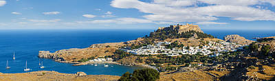 Photograph - Panorama Of The Lindos Acropolis In Rhodes by Gurgen Bakhshetsyan