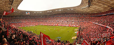 Photograph - Panorama Of The Munich Soccer Arena by Rudi Prott