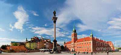 Photograph - Panorama Of The Old Town In Warsaw Poland by Michal Bednarek