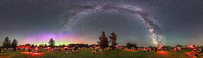 Panorama Of The Stars Over Cypress Hills Art Print by Alan Dyer