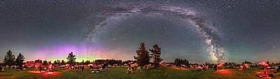 Panorama Of The Stars Over Cypress Hills Art Print