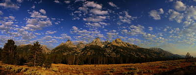 Photograph - Panorama Of The Tetons by Raymond Salani III