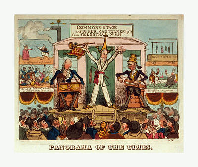 Christian Artwork Drawing - Panorama Of The Times, 1821, A Man, The Celebrated Juggler by English School