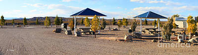 Panorama Outdoor Community Area Art Print by Roena King