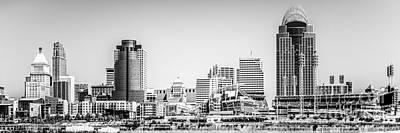 Panorama Picture Of Cincinnati Skyline Print by Paul Velgos