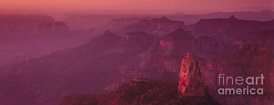 Photograph - Panorama Pre-dawn At Point Imperial Grand Canyon National Park by Dave Welling