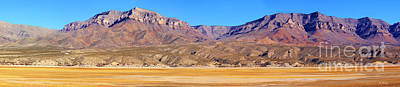 Photograph - Panorama Sierra Caballo Mountains And Dry Lake Bed by Roena King