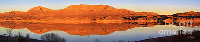 Photograph - Panorama Sierra Caballo Mountains by Roena King