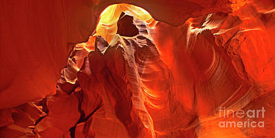 Photograph - Panorama Slot Canyon Arizona by Dave Welling