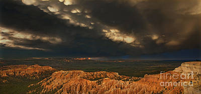 Photograph - Panorama Storm Clouds Over Bryce Canyon National Park Utah by Dave Welling