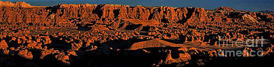 Photograph - Panorama Sunset On The Hoodoos Goblin Valley Utah by Dave Welling