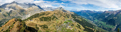 Photograph - Panorama Swiss Alps Switzerland by Matthias Hauser