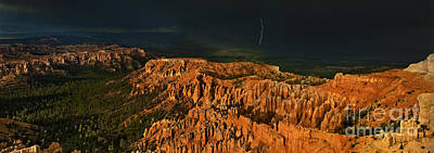 Photograph - Panorama Thunderstorm Bryce Canyon National Park Utah by Dave Welling