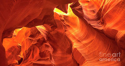 Photograph - Panorama Upper Antelope Slot Canyon Arizona by Dave Welling