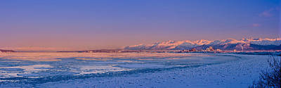 Alaska Photograph - Panorama View Of The Anchorage Skyline by Kevin Smith