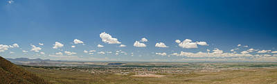 Photograph - Panorama View Of West El Paso by Allen Sheffield