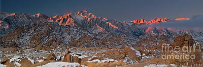 Photograph - panorama winter alabama hills eastern sierras CA by Dave Welling