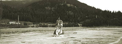 Photograph - Panorama With Devil's Rock On The Bottom Of Bicaz Lake On Bistrita River In Neamt County Romania by Vlad Baciu