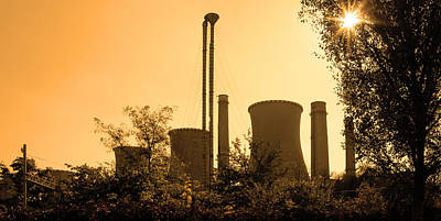 Photograph - Panorama With Industrial Furnaces And Trees by Vlad Baciu