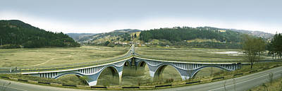 Photograph - Panorama With The Bridge Over The Dry Bicaz Lake On Bistrita River In Neamt County In Romania by Vlad Baciu
