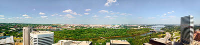 Panoramic Aerial View Of Washington D.c Art Print by Panoramic Images