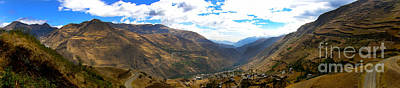 Patchwork Quilts Photograph - Panoramic Andes Mountains by Al Bourassa