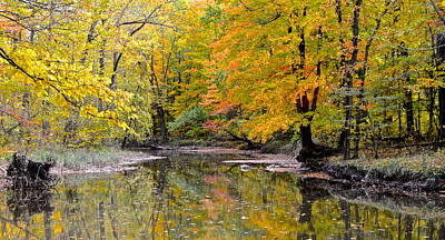 Photograph - Panoramic Autumn View by Frozen in Time Fine Art Photography