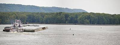 Photograph - Panoramic Barge by Bonfire Photography