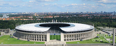 Photograph - Panoramic Berlin Olympic Stadium by Art Photography