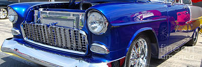 Photograph - panoramic blue Chevy by Mark Spearman