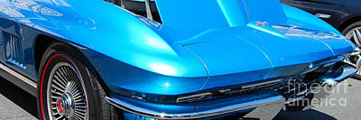 Photograph - panoramic blue Corvette by Mark Spearman