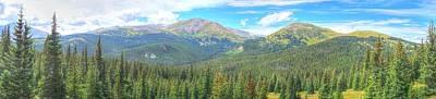 Food And Flowers Still Life - Panoramic Boreas Pass by Lanita Williams