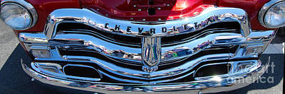 Panoramic Chevy Grill Art Print