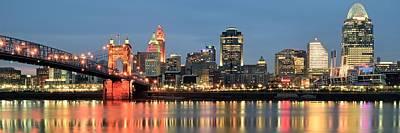Panoramic Cincinnati Ohio Art Print by Frozen in Time Fine Art Photography