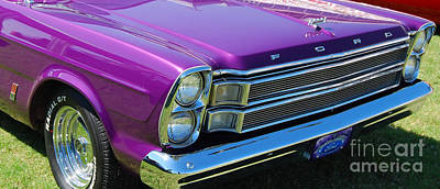 Photograph - panoramic Ford Galaxie by Mark Spearman